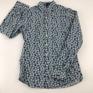 J Crew Slim Fit Floral Button Down Shirt. J1